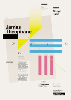 Design Talks #2: James Théophane - UTS Visual Communication Design (poster by Mark Gowing Design)