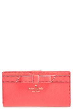 Women's kate spade new york 'cobble hill - bow stacy' wallet - Pink
