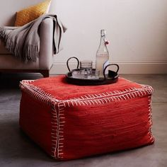 Recycled Rag Pouf by West Elm