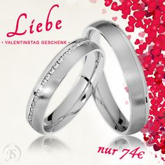 💖 Topseller zu Valentinstag sichern 💖 🔸 Partnerringe mit funkelnden Steinen 🔸 Nur noch 74€/Paar 🔸 inkl. Versand 🔸 inkl. Gravur 🔸 inkl. Ring-Etui