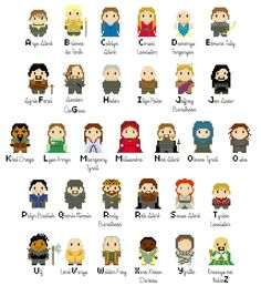 Game of Thrones Alphabet - Model by amandineslx on DeviantArt