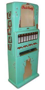 Vintage vending machine for sundries.