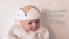 Crochet PATTERN & video TUTORIAL  how to crochet baby crown Princess Photo, Geek Squad, Single Crochet Stitch, Crochet Baby, Etsy Seller, Crochet Patterns, Crown, Handmade Gifts, Pdf