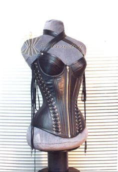 Luxury Top Grain Genuine Leather Corset Fully Steel Boned Corset Top -- Corset Top,Corsets Wholesale,Sexy Corset Dress,Corset Bustier,High Heels