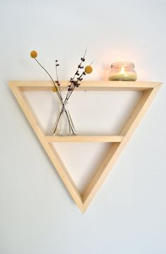 Large Triangle Shelf by The807 on Etsy