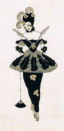 Marchesa Luisa Casati - c. 1914 - Drawing by Alastair, aka Hans Henning Otto Harry Baron von Voigt