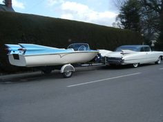 '59 Cadillac with matching boat. @Steve Hirsch Photographer