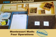 Montessori Math: Four Operations (Addition) with Free Printable by Tanya from The Natural Homeschool at Hip Homeschool Moms