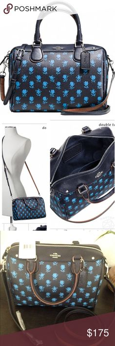 """New with tags Coach mini satchel 100% authentic, Printed coated canvas. Inside zip, cell phone and multi function pockets. Zip-top closure, fabric lining. Handles with 4"""" drop. Longer strap with 23"""" for shoulder or crossbody wear. 9"""" L., 6 1/2"""" H., 5"""" W. Coach Bags Satchels"""