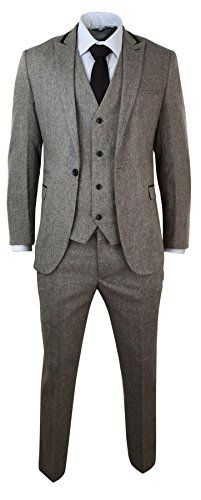 Mens Herringbone Tweed 3 Piece Suit Velvet Trim Classic V... https://www.amazon.com/dp/B0158VNZNE/ref=cm_sw_r_pi_dp_x_RBN.zbAVJJ41W