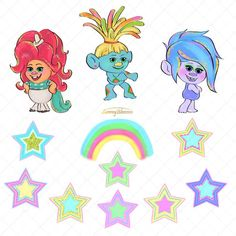 Trolls Birthday Party, Troll Party, Ghostbusters Party, Very Cute Baby, 2 Clipart, Paper Stars, Announcement Cards, Wedding Stationary, Textile Prints