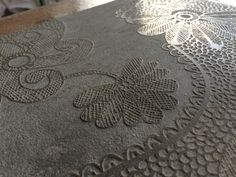 Lace on grey marble
