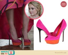 Carrie's two-tone shoes on The Carrie Diaries. Outfit Details: http://wornontv.net/26236 #TheCarrieDiaries #fashion