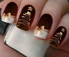 Nail - 50 Beautiful Stylish and Trendy Nail Art Designs for Christmas - - 50 Beautiful Stylish and Trendy Nail Art Designs for Christmas nails nail ideas spring nails trendy nails. Holiday Nail Art, Christmas Nail Art Designs, Winter Nail Art, Winter Nails, Winter Art, Xmas Nail Art, Snowman Nail Art, Christmas Design, Snowflake Nail Art