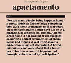 Apartamento Magazine - más o menos mi filosofía acerca de la decoración de mi casa.