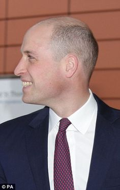 Prince William debuted his new shaven haircut today as he backed the national roll out of ...