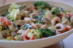 Siri Fossing – Kyllinggryte Recipe Boards, Scampi, Pasta Salad, Potato Salad, Shrimp, Good Food, Food Porn, Quinoa, Food And Drink