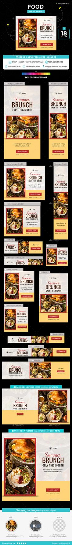 #Food #Banner #Template - #Banners & #Ads #Web #Elements #design. download here: https://graphicriver.net/item/food-banners/20192728?ref=yinkira