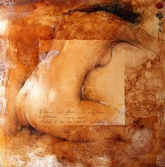Artist: Andre Kohn {contemporary figurative nude female woman posterior back painting}