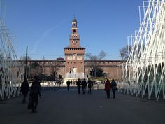 """Castello Sforzesco expo gate - """"Milan with Children: A tour on the Red Line"""" by @crowdedplanet"""