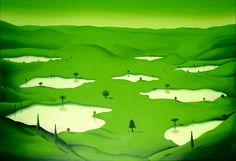 Green  1999 acryl on canvas 180x140cm