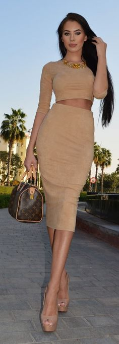Spring Street Style Chic / karen cox.  Beige Neutrality Outfit Idea