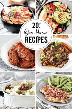 For those days when you want to make something a little extra special for your family and have some time to spare, these one-hour recipes are a great option! Everything on this list is a must-try, and your family is going to love them! livelaughrowe.com #OneHourRecipes #Meal #Desserts