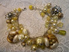 upcycle AND RECYCLE for jewerly | Jewelry Crafts / OOAK Artisan Vtg Gypsy Boho Yellow Recycle Chunky Cha ...