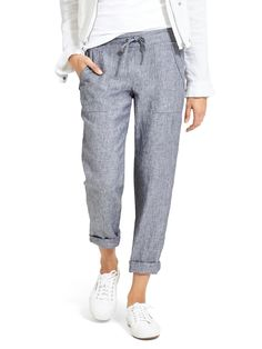 athleta linen ankle pant