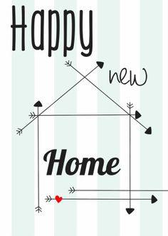 Happy new Home - Verhuiskaarten - Kaartje2go