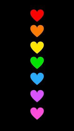 Helle Farben auf schwarzem Hintergrund You can start by using the software to add some g Rainbow Wallpaper, Heart Wallpaper, Love Wallpaper, Colorful Wallpaper, Cellphone Wallpaper, Iphone Wallpaper, Rainbow Heart, Over The Rainbow, Black Backgrounds