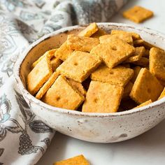 Low carb cheddar cheese crackers with a flaky, crispy texture like no other. Miss the authentic crunch of store bought crackers, these are for you! Keto.
