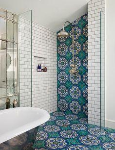 Victorian Dream Bathroom diy dream house Get This Look: 9 Beautiful Bathroom Design Trends We're Swooning Over Bad Inspiration, Bathroom Inspiration, Bathroom Ideas, Shower Bathroom, Shower Tiles, Bathroom Remodeling, Bathroom Wall, Shower Floor, Remodeling Ideas
