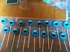 Cookie monster Oreo pops