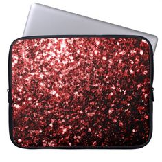 Beautiful Glamour Red Glitter sparkles Laptop Computer Sleeves