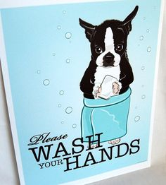 boston terrier print