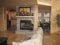 Fireplace For The Dining Room Kitchen AND Living