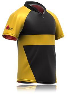 Yellow hoop rugby shirt design by www.samurai-sports.com 91f3e8277