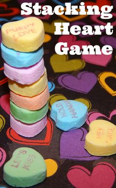 Play a Valentine's Stacking Heart Game. So simple, and so fun!