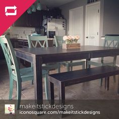 @makeitstickdesigns good job with mixing and matching! The Gavelston Table and Mestler Chairs blend so well together <3