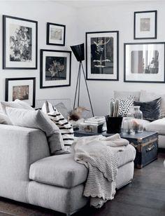 Mørke vægge og gulve kan lyde afskrækkende på de fleste – men se her, hvordan Mari har brugt det til at skabe smukke kontraster i hjemmet.