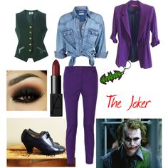Batman - The Joker Inspired Outfit by jediavenger9 on Polyvore featuring Soul Cal, Alice + Olivia, CÉLINE, M Missoni and NARS Cosmetics