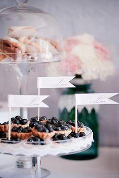 "Photo 1 of 8: Elegant / romantic / Wedding ""Lynda & Matt's Petti Four Dessert Table"" | Catch My Party"