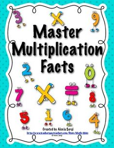 Help your students master the multiplication facts! This 40 page printable book includes printable quizzes, flashcards, games, and data sheets! $4.00
