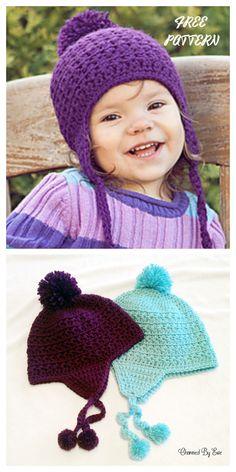 Crochet Toddler Hat, Crochet Baby Beanie, Crochet Kids Hats, Crochet Baby Clothes, Crochet For Boys, Baby Knitting, Knit Hats, Crochet Gratis, Free Crochet