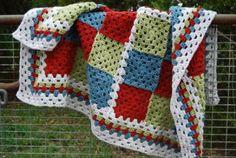 Lovin' this crocheted lap rug!