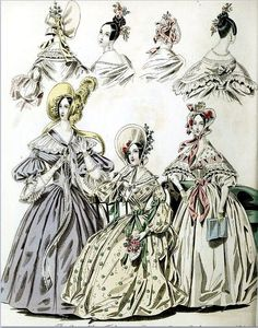 The World of Fashion and Continental Feuilletons 1836 Plate 41 by CharmaineZoe, via Flickr