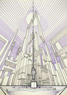 Living in a linear perspective by Vsevolod Volkov, via Behance