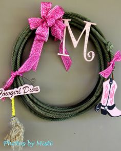 western party wreath for my baby boy just change the pink to red or blue