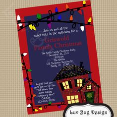 Holiday party invitation christmas vacation clark griswold printable christmas vacation griswold christmas party invite diy printable party invitation by luv bug design solutioingenieria Gallery
